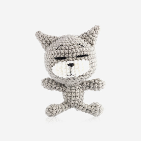 Handmade Knitted Cat