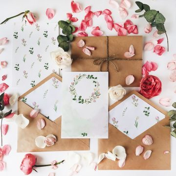 Romantic Letters Decoration 5 Steps Tutorial