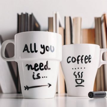 "Handmade Cup With Inscription ""All You Need Is…"""